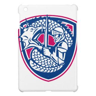 Drache-und Ritter-kämpfendes Wappen iPad Mini Hülle