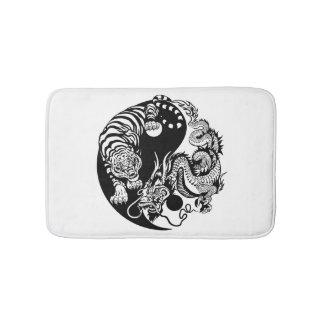 Drache und Tiger yin Yang-Symbol Badematte