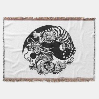 Drache und Tiger yin Yang-Symbol Decke