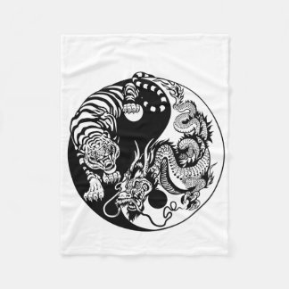 Drache und Tiger yin Yang-Symbol Fleecedecke