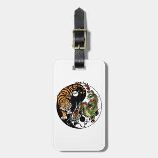 Drache und Tiger yin Yang-Symbol Gepäckanhänger