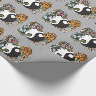 Drache und Tiger yin Yang-Symbol Geschenkpapier