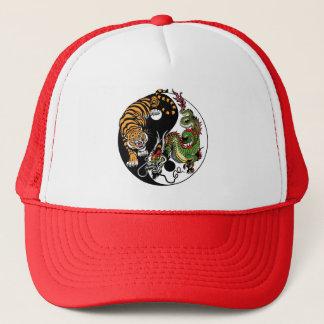 Drache und Tiger yin Yang Truckerkappe
