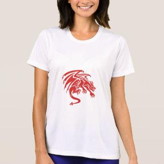 Drache-Wasserspeier-duckende Silhouette Retro T-Shirt