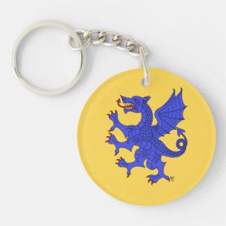 Drache-zügelloses Azurblau Schlüsselanhänger