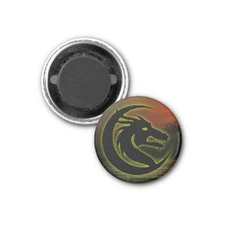 Drachehauptmagnet (rund) runder magnet 3,2 cm