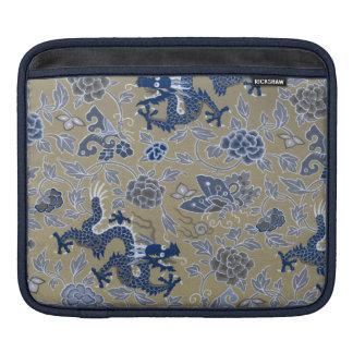 Drachen, Blumen, Schmetterlinge - Blau auf stumpfe Sleeve Für iPads