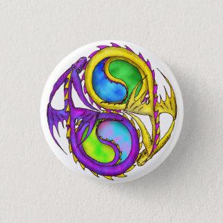 Drachen der Harmonie Runder Button 3,2 Cm