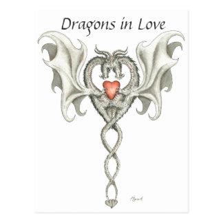 Drachen in der Liebe - Postkarte