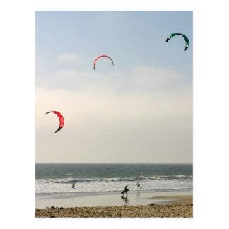 Drachen-Surfen Postkarte