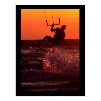 Drachen-Surfer Postkarte