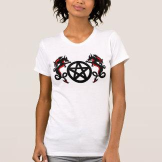 Drachen und Pentagramm-Shirt T-Shirt