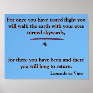 Drachenfliegen Da Vinci Poster