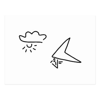 drachenflieger flugsport postkarte