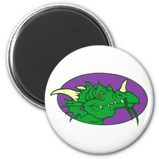 Drachenkopf dragon head runder magnet 5,1 cm