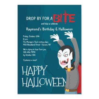 Dracula-Halloween-Party-Einladung Karte
