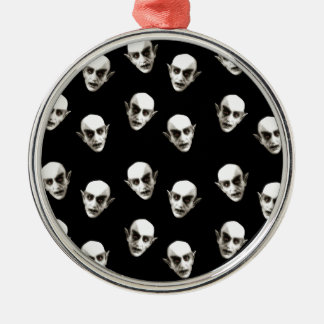 Dracula-Muster Silbernes Ornament