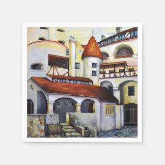 Dracula-Schloss - der Innenhof Papierservietten