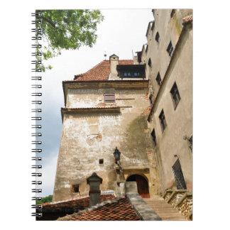 Dracula-Schloss in der Kleie, Brasov, Siebenbürgen Spiral Notizblock