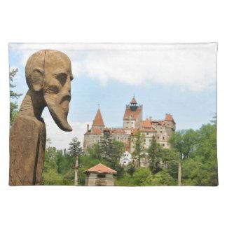 Dracula-Schloss in der Kleie, Brasov, Siebenbürgen Stofftischset