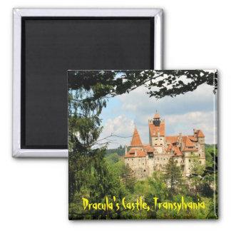 Dracula-Schloss in Siebenbürgen, Rumänien Quadratischer Magnet