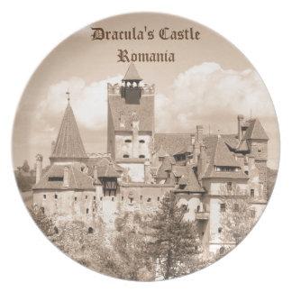 Dracula-Schloss in Siebenbürgen, Rumänien Teller