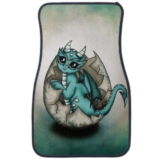 Dragonbaby im Ei Autofußmatte