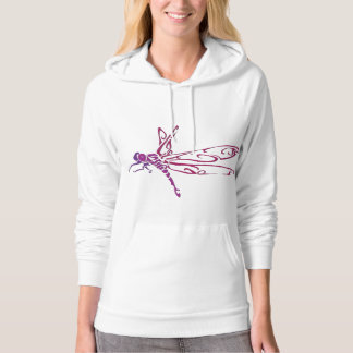 dragonfly neon hoodie