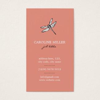 Dragonfly Netz ländliches Chor- feminine elegant Visitenkarte