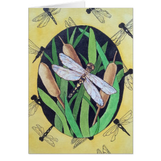 Dragonflys u. Cattails Karte
