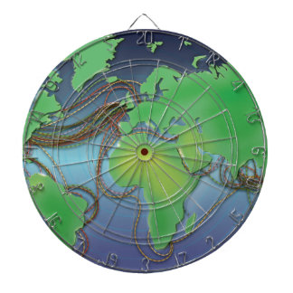 Drähte der Welt - unterseeische Kabel Dart-scheibe