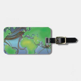 Drähte der Welt - unterseeische Kabel Kofferanhänger