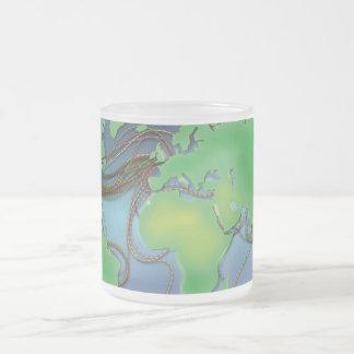 Drähte der Welt - unterseeische Kabel Matte Glastasse