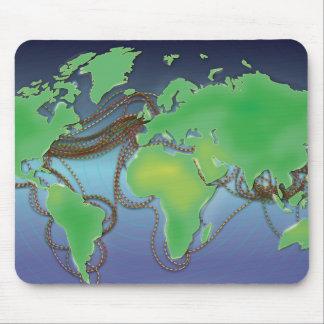 Drähte der Welt - unterseeische Kabel Mauspad