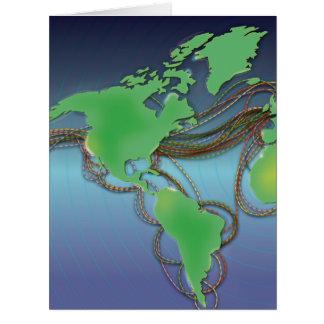 Drähte der Welt - unterseeische Kabel Riesige Grußkarte
