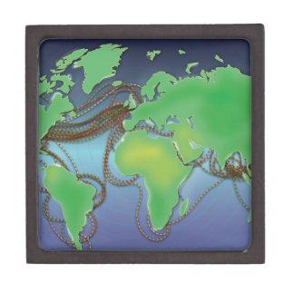 Drähte der Welt - unterseeische Kabel Schmuckkiste