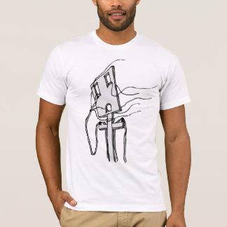 Drähte zum Wind/nehmen Sitz ab T-Shirt