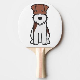 Drahtfox-Terrier-HundeCartoon Tischtennis Schläger