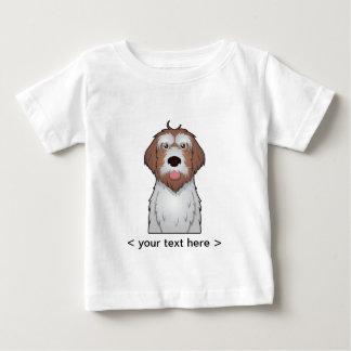 Drahthaar, das Griffon Cartoon personalisiert Baby T-shirt