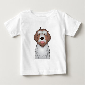 Drahthaar, das Griffon Cartoon zeigt Baby T-shirt