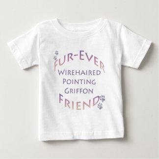 Drahthaar, das Griffon Furever Freund zeigt Baby T-shirt