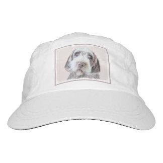 Drahthaar, das Griffon Malerei - Hundekunst zeigt Headsweats Kappe