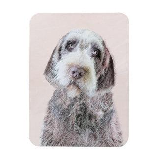 Drahthaar, das Griffon Malerei - Hundekunst zeigt Magnet