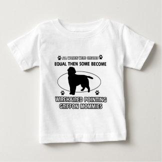 Drahthaar, das griffon Mama-Entwurf zeigt Baby T-shirt