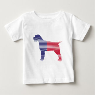 Drahthaar, das Griffon patriotischer Hunderotes Baby T-shirt