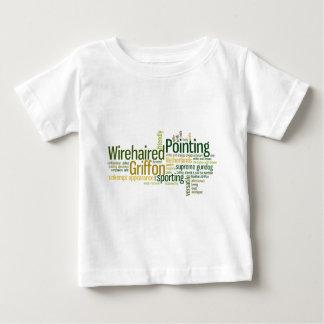 Drahthaar, das Griffon zeigt Baby T-shirt