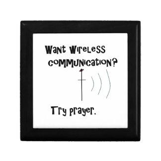 Drahtloses Kommunikations-Gebet Erinnerungskiste