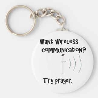 Drahtloses Kommunikations-Gebet Schlüsselanhänger