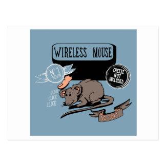 Drahtloses Maus~ lustiges neues Postkarten