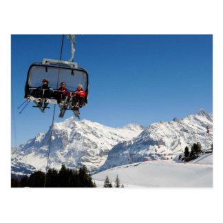 Drahtseilbahn in der Jungfrau Region Postkarten